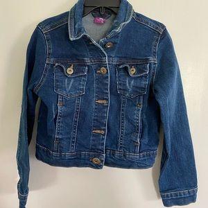 J. Khaki crop top denim jacket